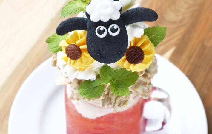 shaun the sheep cafe summer drink